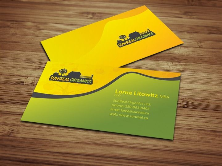 Organic Food Company Business Card design Create for food - what is in a design proposal