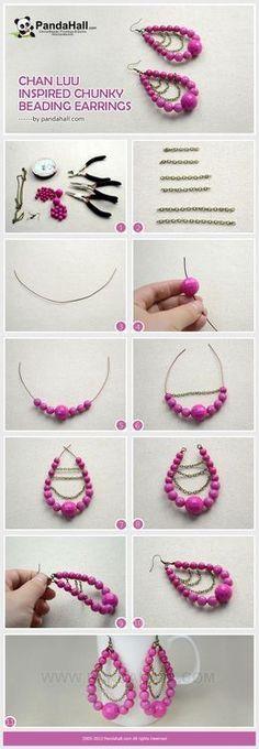Jewelry Making Tutorial Of Diy Chan Luu Inspired Chunky Beading Earrings Pandahall Beads Blog