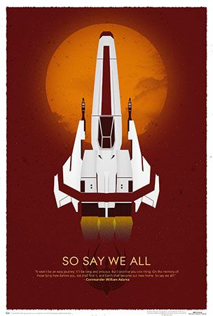 Battlestar Galactica So Say We All 10th Anniversary Poster With