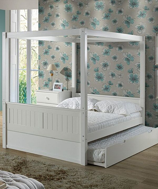 Look at this White Full Canopy Trundle Bed on #zulily today! & Look at this White Full Canopy Trundle Bed on #zulily today ...