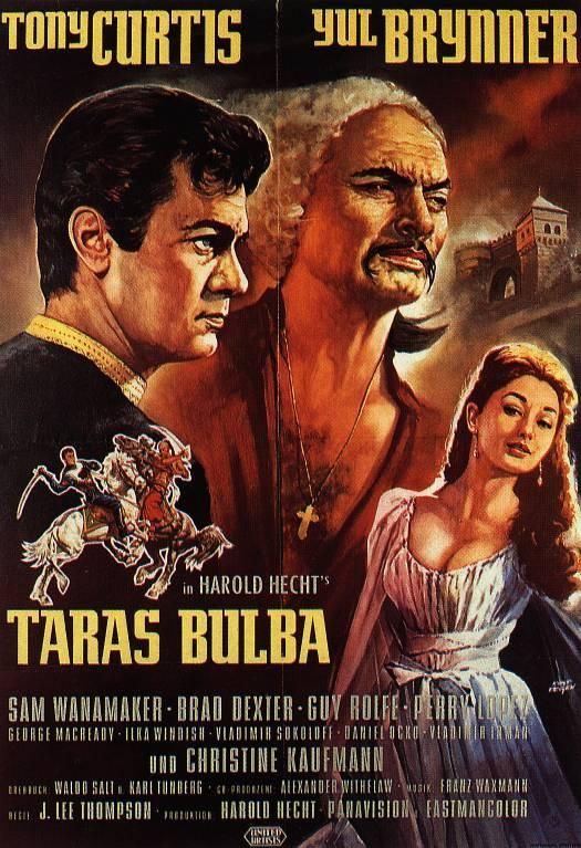 Taras Bulba J Lee Thompson 1962 Old Movie Posters Movie Posters Classic Films Posters