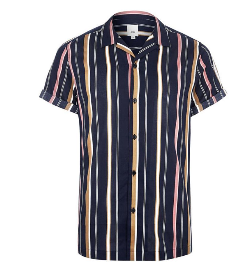 646352b3d7c1 Mens Striped Shirt // River Island. | STRIPES | Shirts, Great mens ...