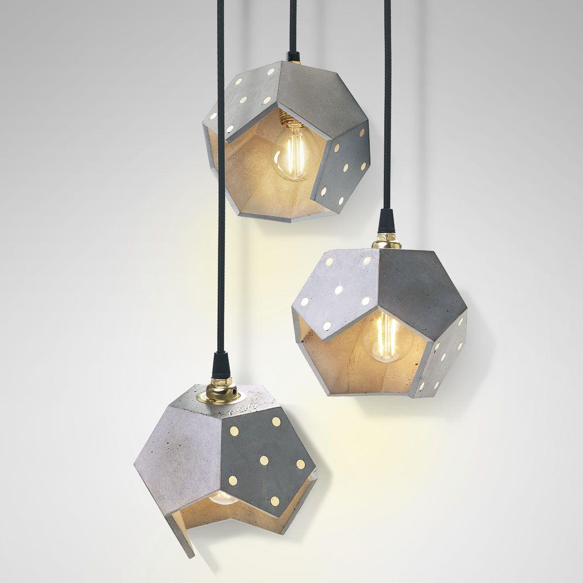 Lampadario cemento, lampada a sospensione, lampada cemento