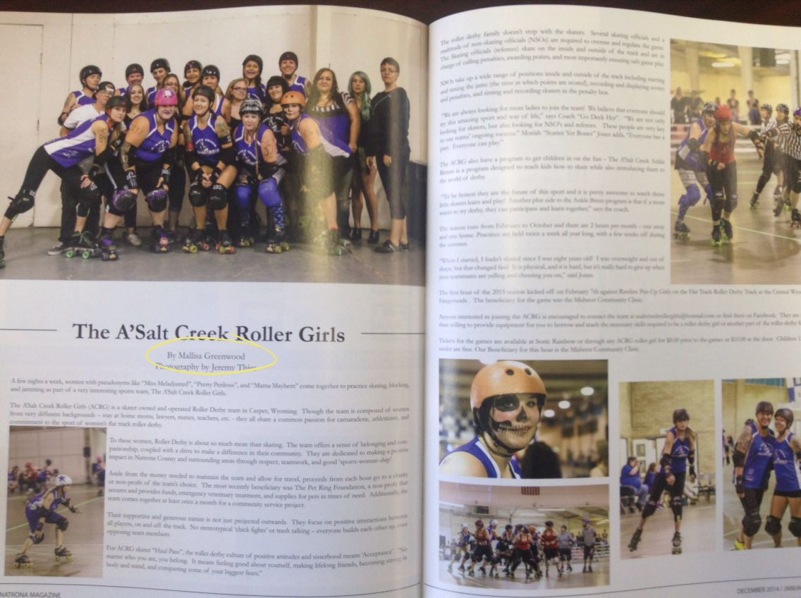 Roller Derby Article in the Natrona Magazine! Roller