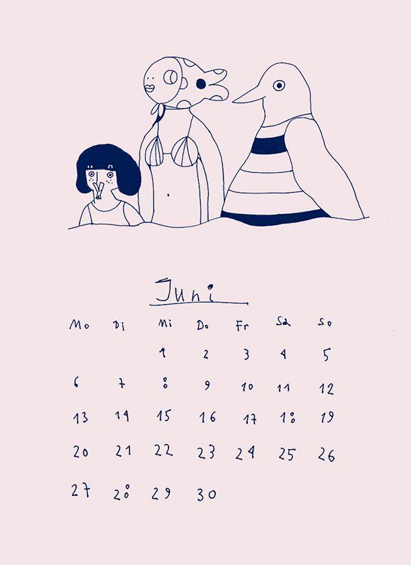 Der zittrige Kalender 2016 (A) on Behance