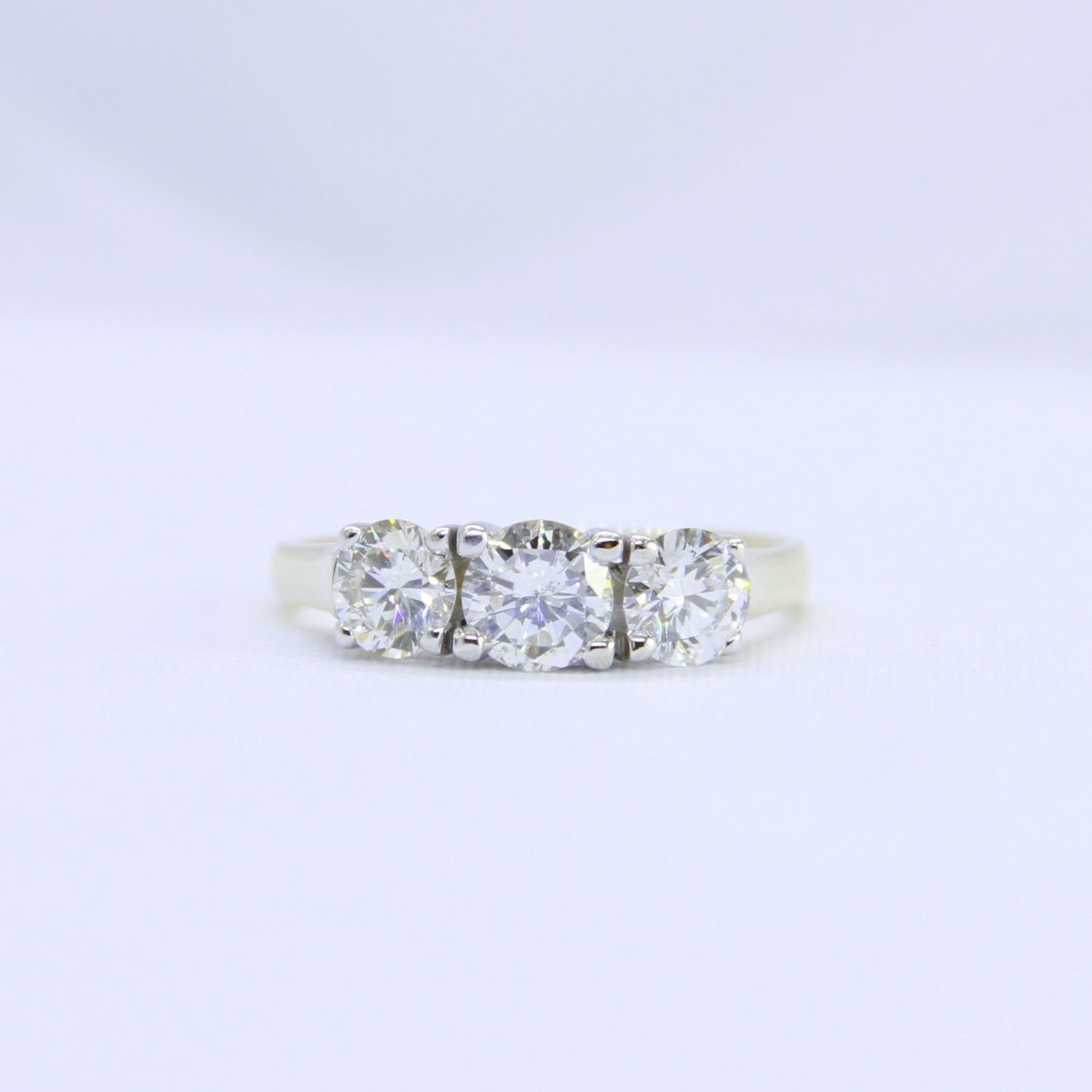 14kyw 1 75ctw diamond trinity ring Estimated Replacement Value