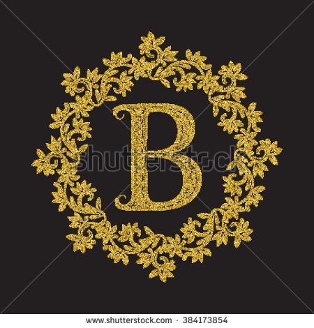 3 Vintage late-1940/'s Monogram Letter  B  Transfer Decal ~ Gold /& Black w Inst