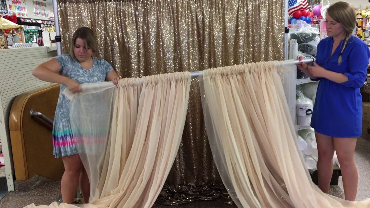 How To Set Up A Double Backdrop Youtube Diy Curtains