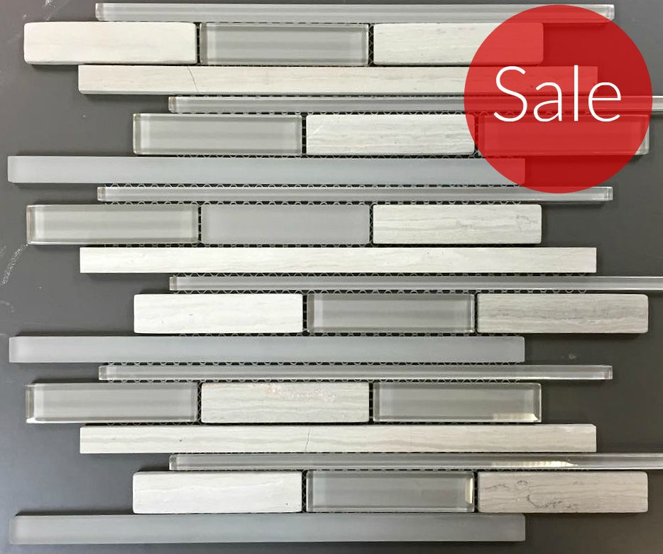 Wooden White - Random Strip Stone And Glass Blend - On Sale - $9.29 ...