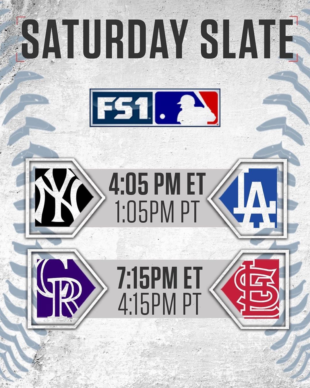 Mlb On Fox On Instagram We Ve Got A Potential World Series Preview On Fs1 Today See You In La In 2020 World Series Mlb Instagram