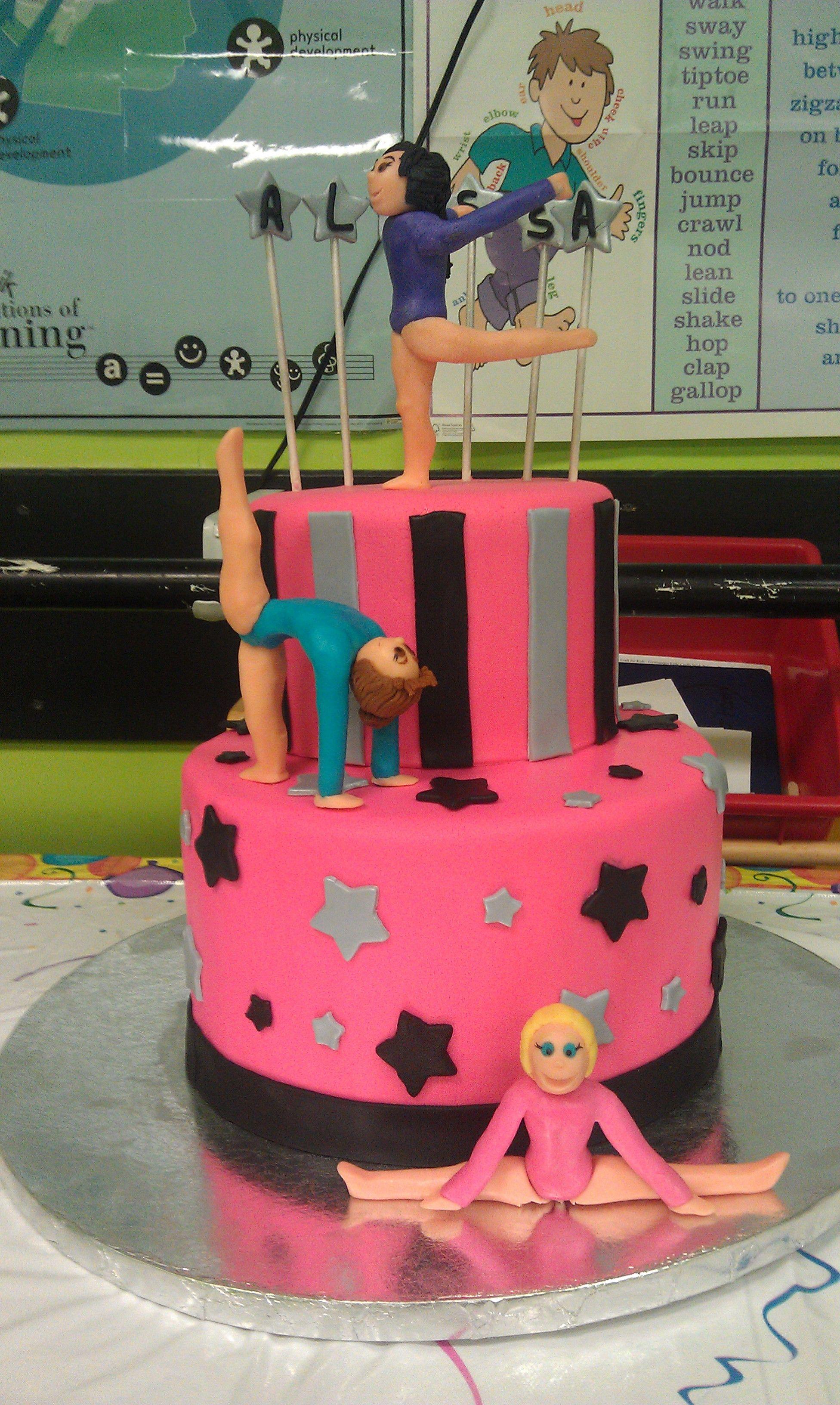 Gymnast Cake Contemporarycakery Gymnastics Cakes Birthday Gravity