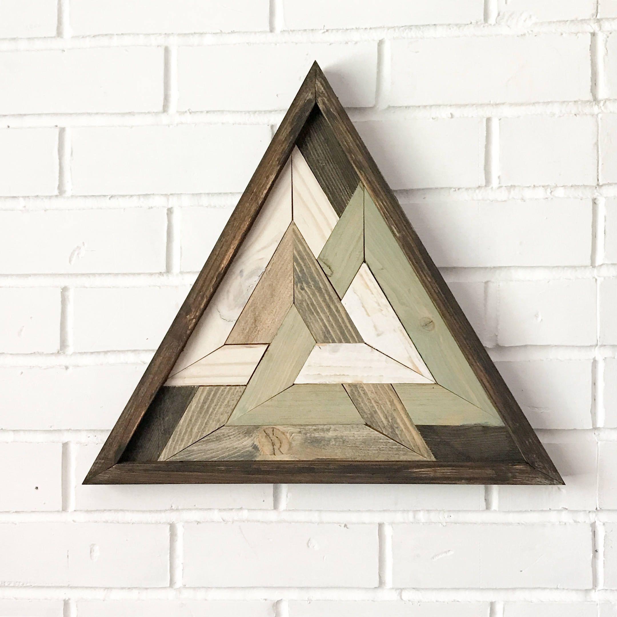 Triangle Art Design Sacred Geometry Odins Triangle Reclaimed Wooden Art By Hollybeeandcompany On Etsy Triangle Art Wooden Art Wooden Wall Art