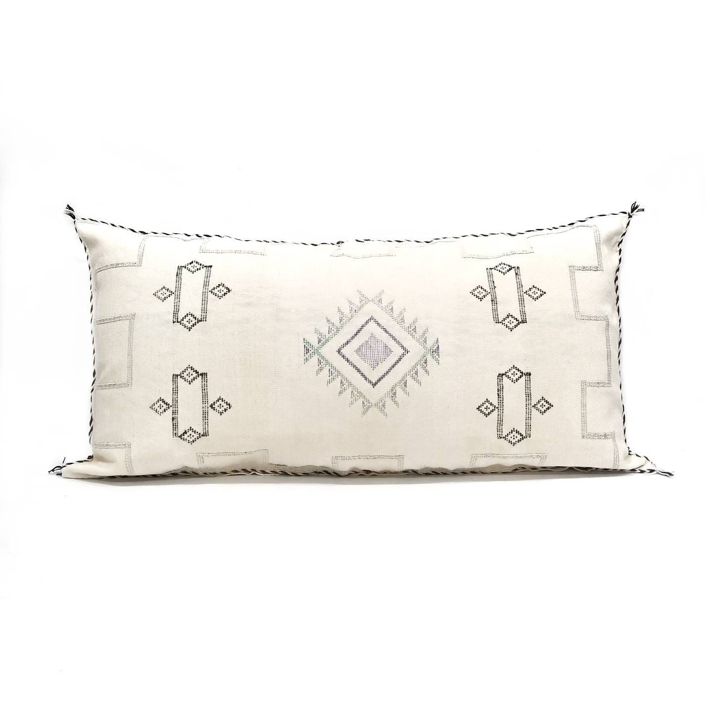 19x 38 Giant King Size Moroccan Cactus Silk Sabra Pillow Cover With Zipper Closure Ed