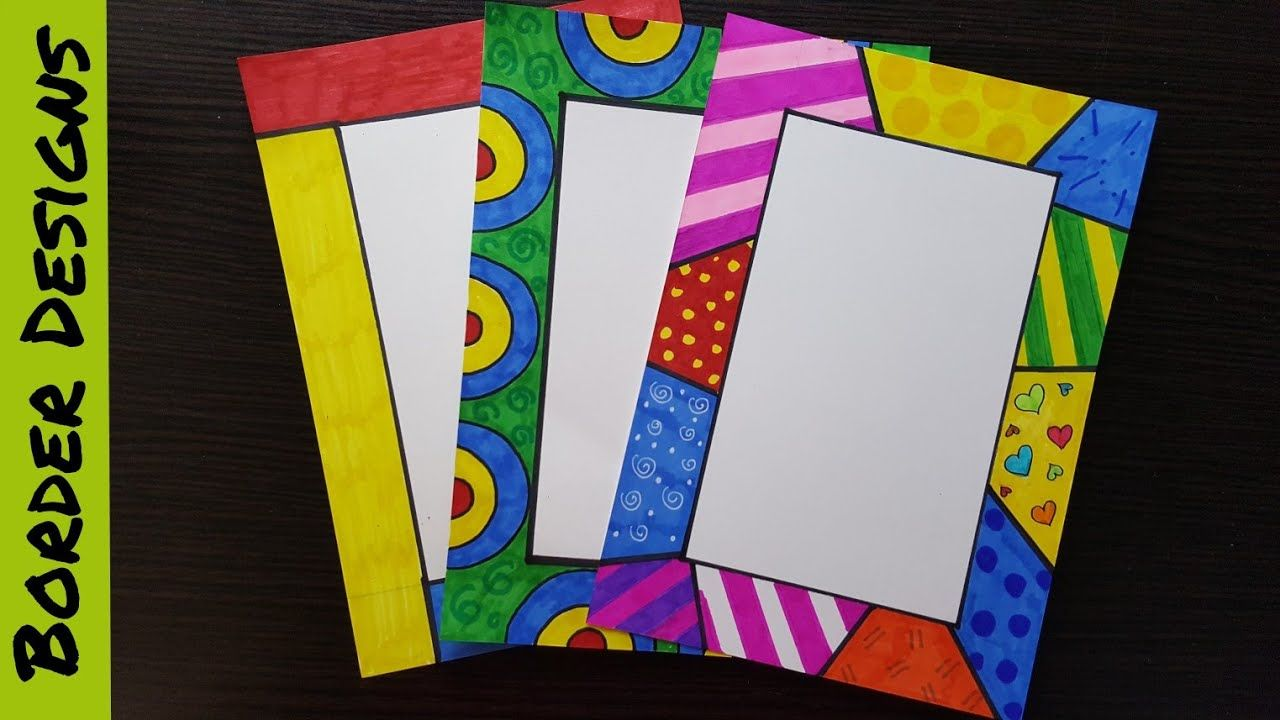 How to make easy page border designs for assignment school projects also rh pinterest