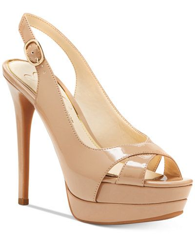 3c9e41a15a7 Jessica Simpson Willey Slingback Platform Dress Sandals