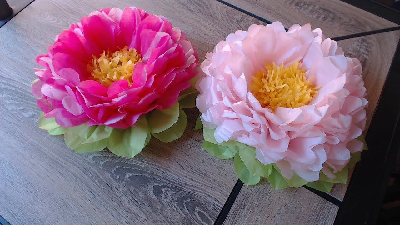 This Video Shows You How To Make Tissue Paper Flower It Can Be Used