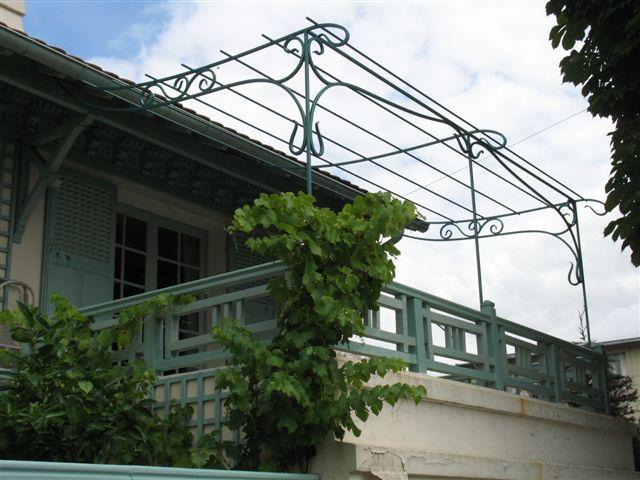 Pergola Art Nouveau Fer forgé Acier Conception et réalisation