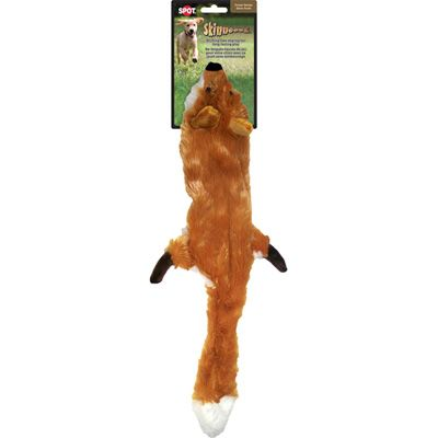 Skinneeez Mini Plush Fox Stuffing-Free Dog Toy «Ripley loved playing with the tail until he tore it up.