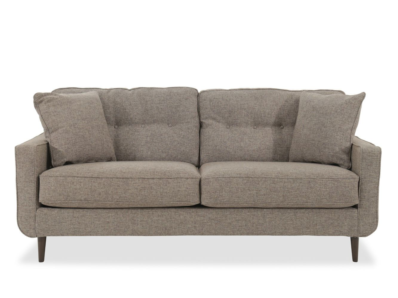 Best Modern Button Tufted 79 Sofa In Jute Mathis Brothers 400 x 300