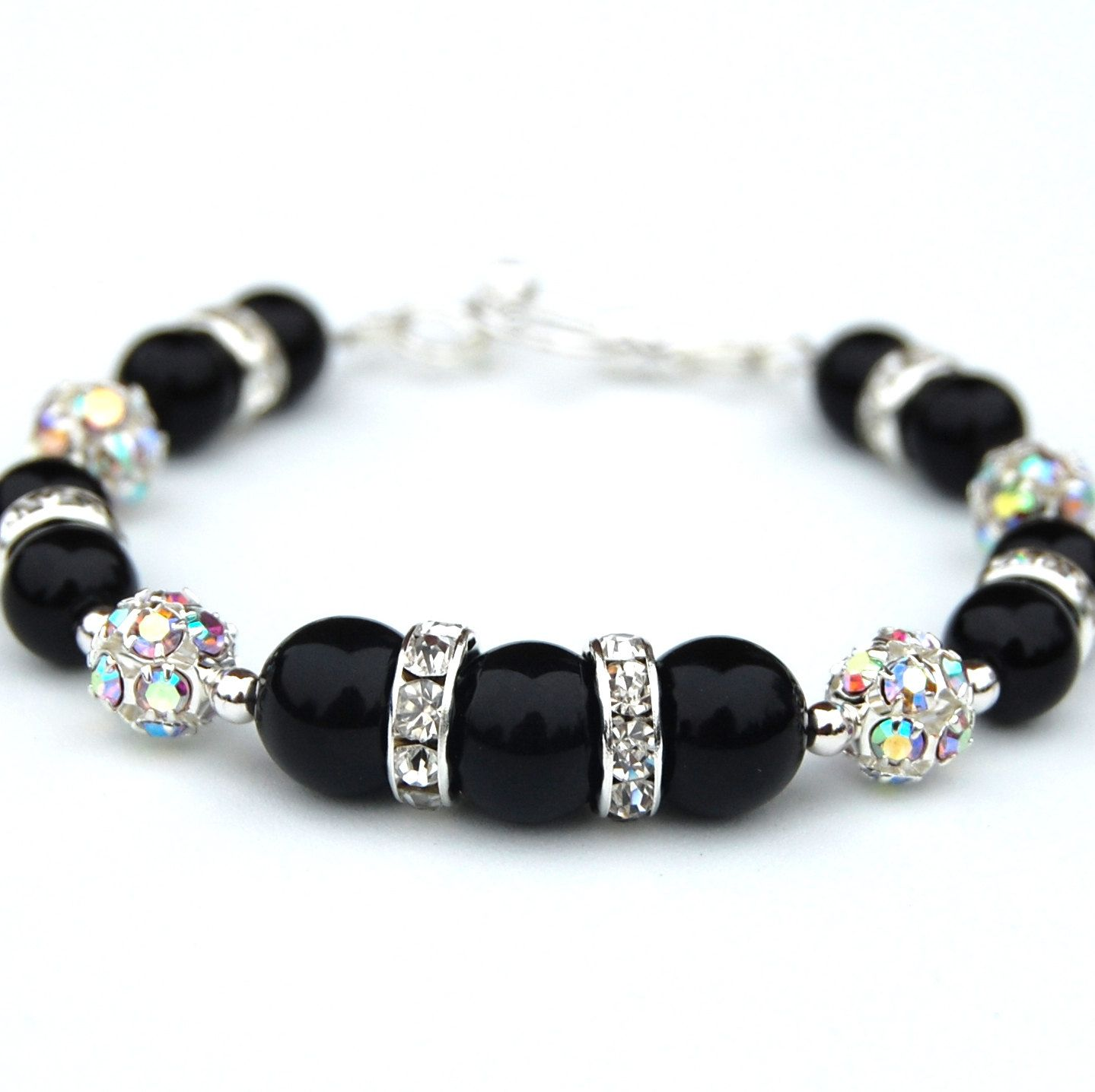 products freshwater silver staircase design black sterling pearl cultured bracelet