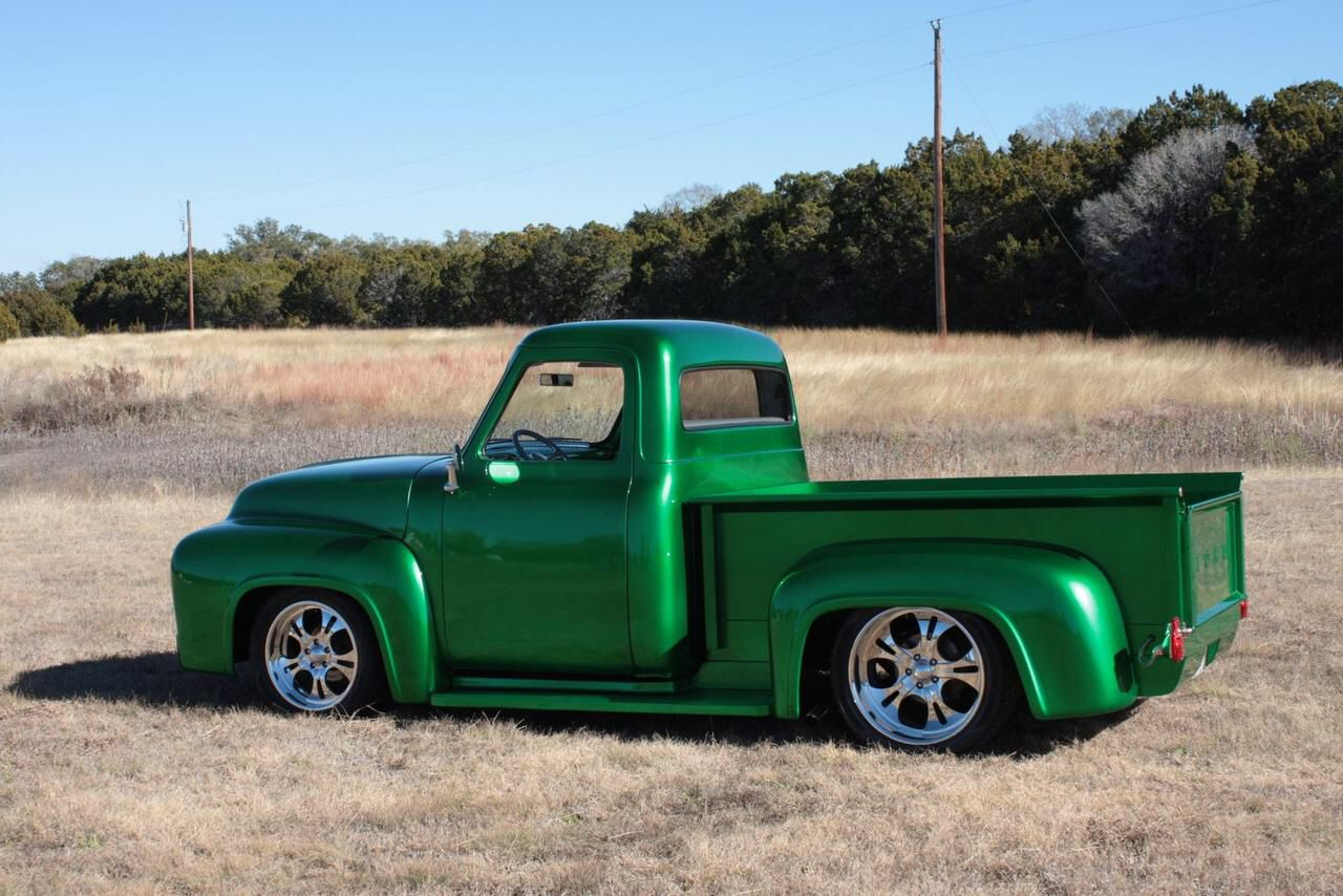 Green Ford With Nice Roll Pan Ford Pickup Trucks Classic Ford Trucks Classic Pickup Trucks