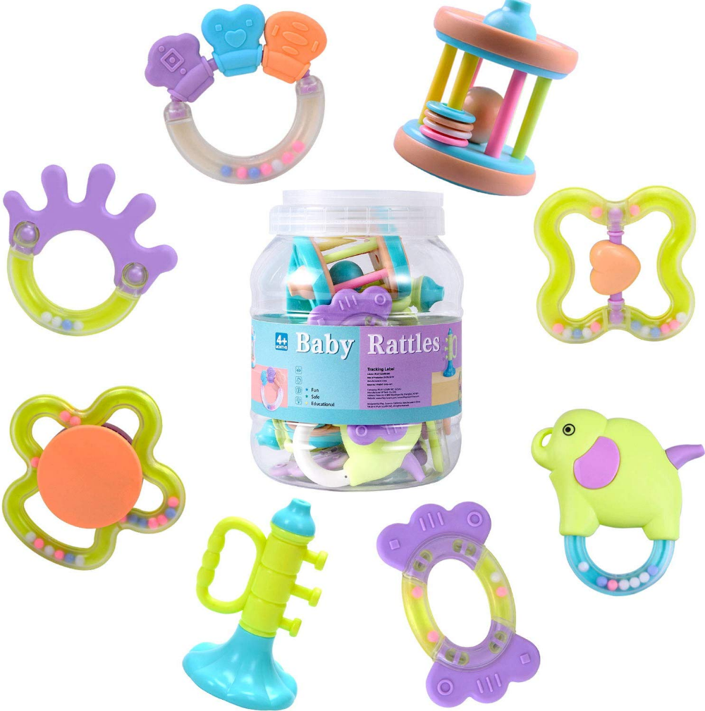 Baby Toys Teething Rattle Teether Fun Play
