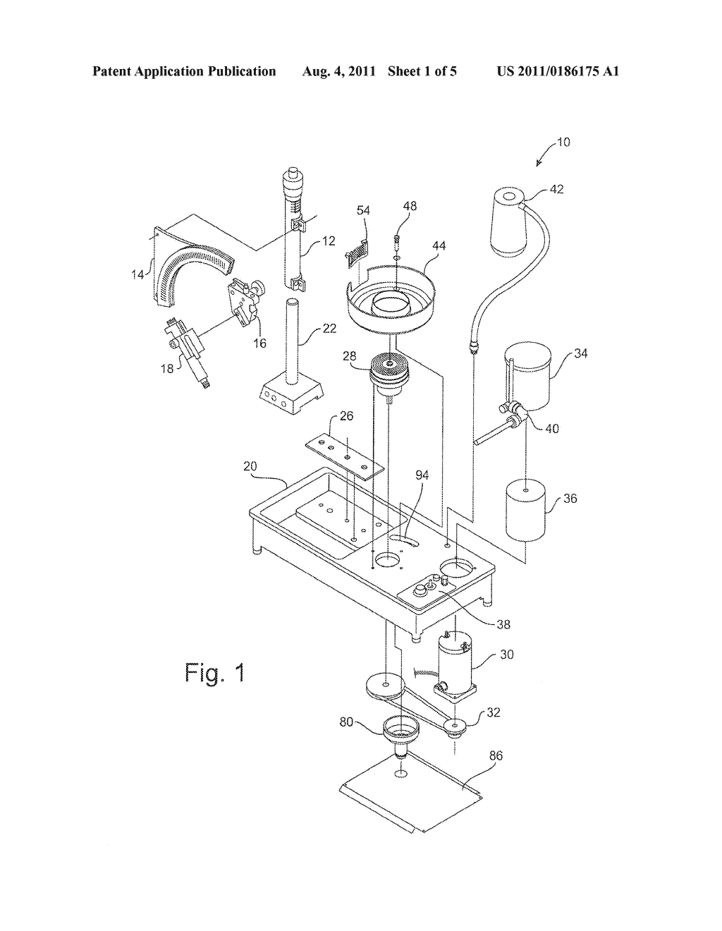 Funnel accessory and drainage assembly for faceting machine diagram schematic and image 02