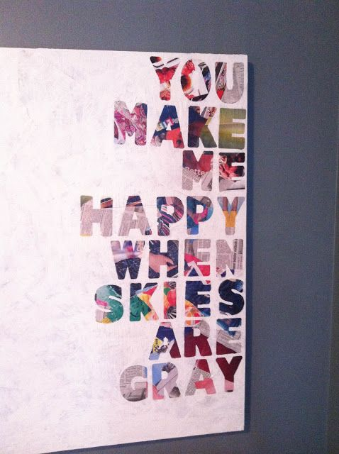 How To Turn Quotes Into Art Canvas Painting Diy Diy Canvas Magazine Crafts