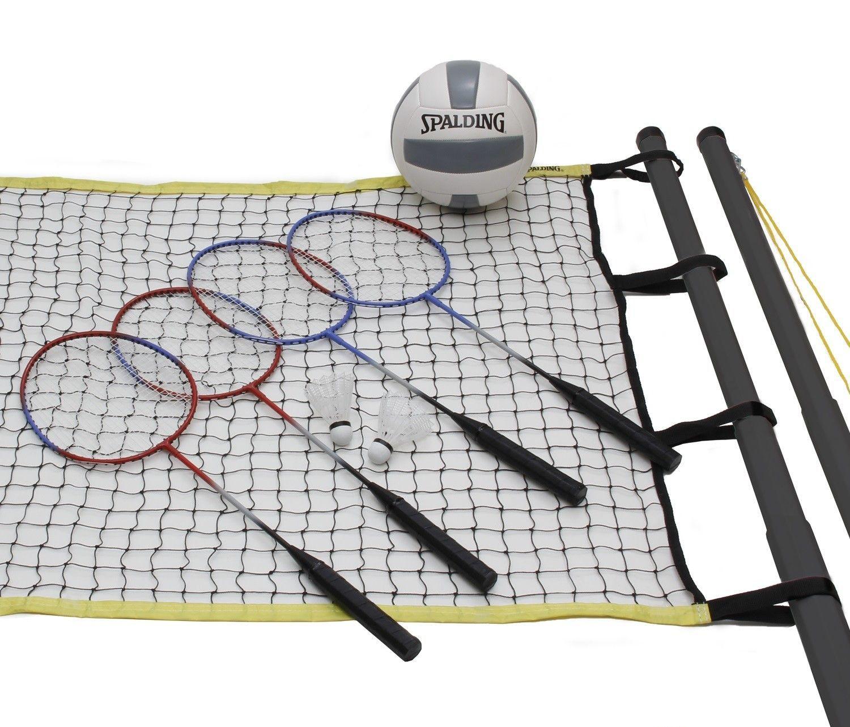 Rush Creek Spalding Recreational 4 Player Badminton Set Badminton Set Badminton Badminton Nets