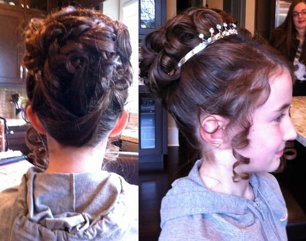 Sensational 1000 Images About Lil Girl Updos On Pinterest Updo Flower Girl Hairstyle Inspiration Daily Dogsangcom