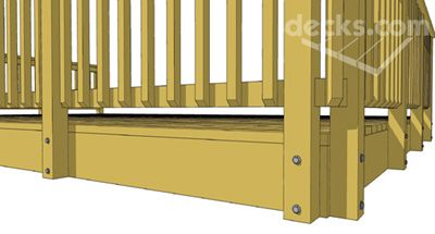 Deck Rail Post Attachment - Decks com | Renovation Ideas in