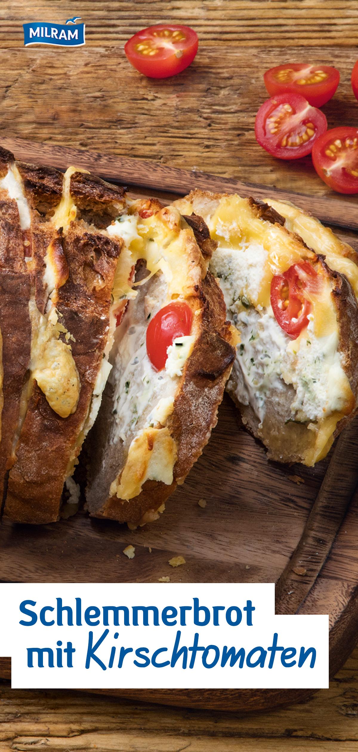 Rezept: Schnelles Schlemmerbrot mit viel Käse | MILRAM