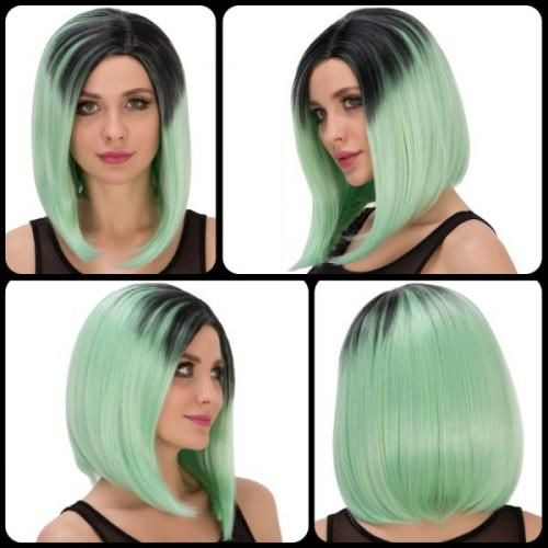 #Medium straight side parting black mixed  ad Euro 11.39 in #Hair cosplay wigs #Moda