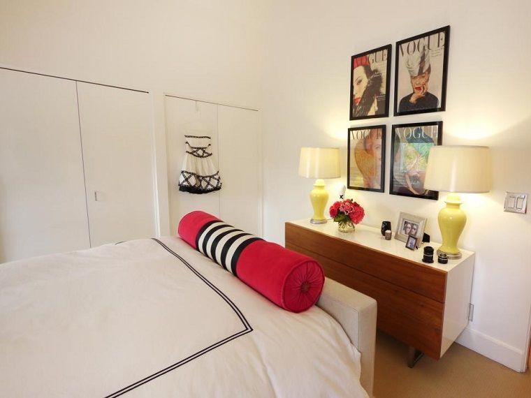 Dormitorio estrecho en blanco con cama grande ideas para nuestro cuarto pinterest - Camas grandes ...