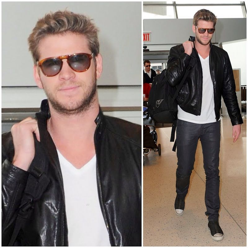 3502c57c5ec9 Liam Hemsworth in Persol Steve McQueen | Celebrities + Fashion ...