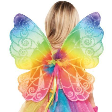 c246112cad Rainbow Fairy Wings - Party City   pride   Rainbow fairies, Fairy ...