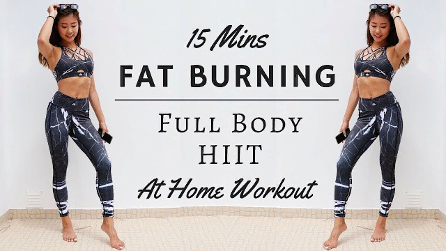 15 min At Home FAT BURNING Full Body HIIT Workout (No Equipment) #15minworkout