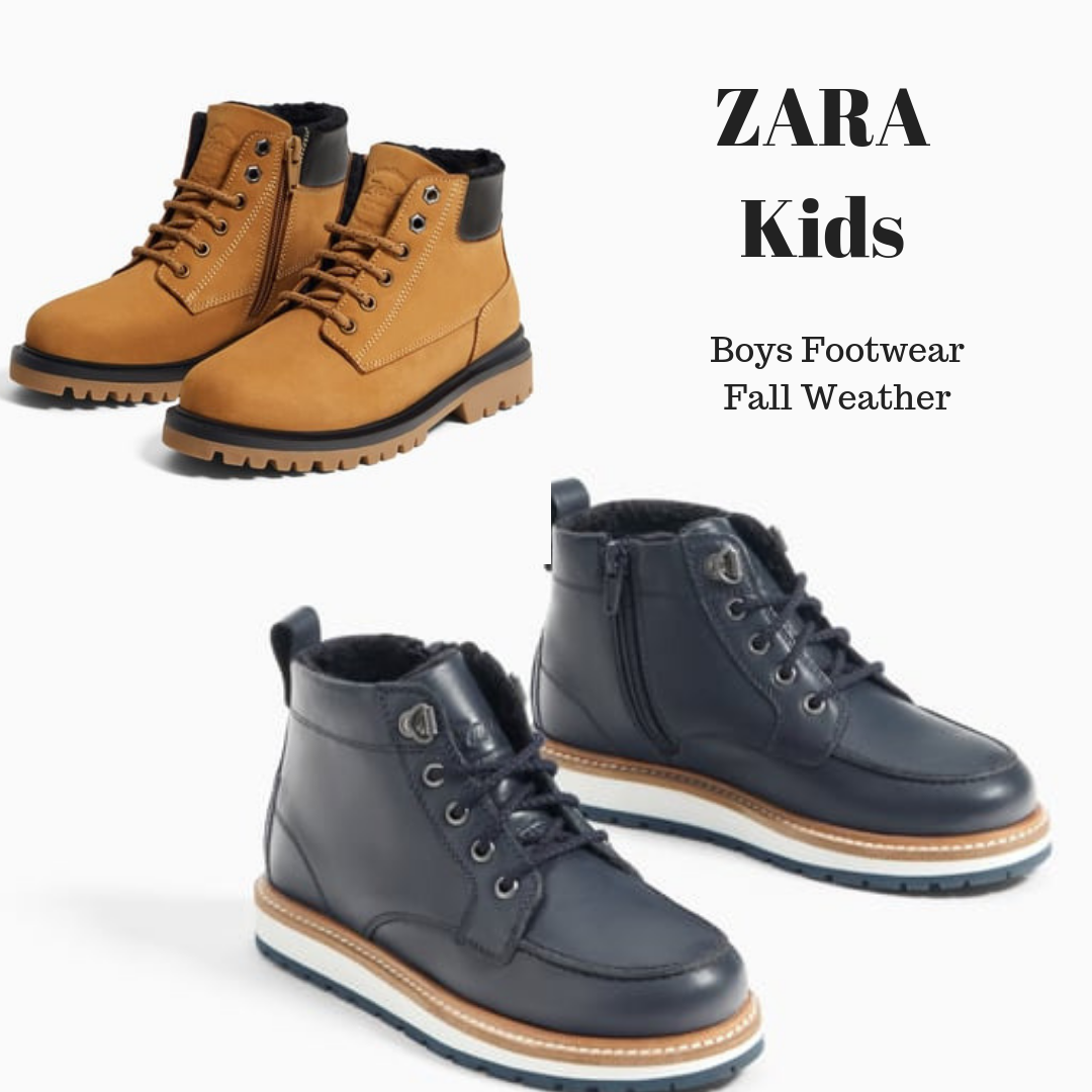 Fall Weather Boots from Zara Kids (Boys