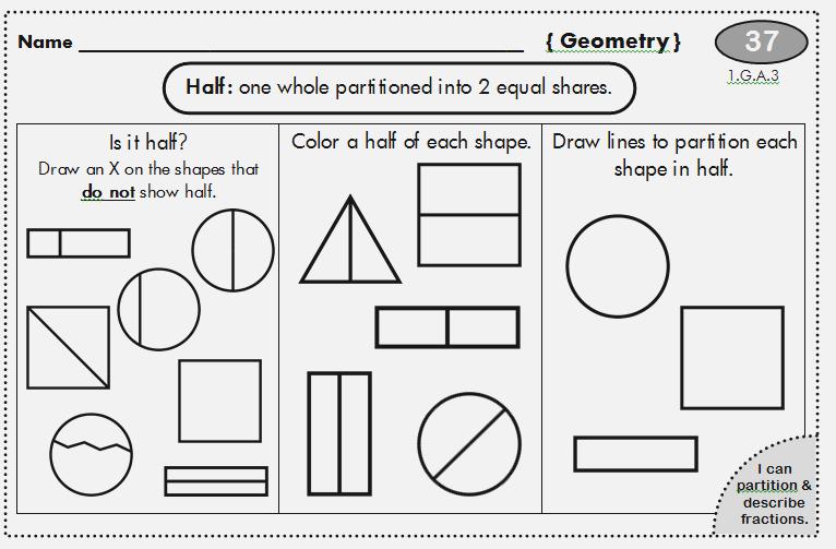 First Grade Fractions A Dailypoll Co 1st Grade Math 1st Grade Math Worksheets Teaching First Grade