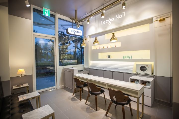 Leega nail salon by ssomoo design suwon south korea - Nail salon interior design photos ...
