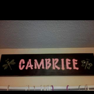 Name board for kids room.