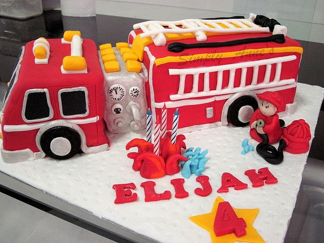 Fire Truck Cake By Simply Anne Via Flickr