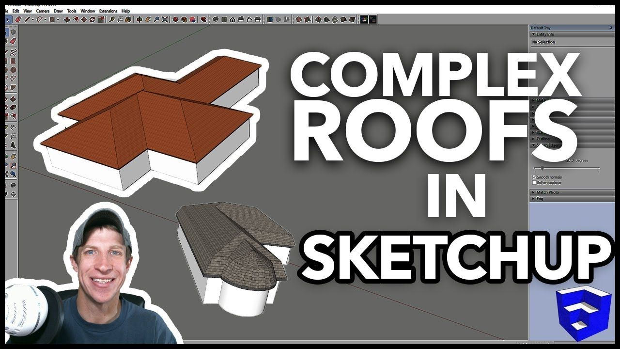 Complex Roofs In Sketchup With Roof By Tig Sketchup Extension Of