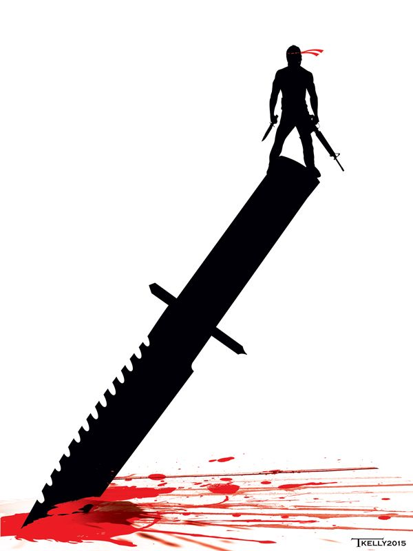 Rambo Knife Edge by artist Tom kelly by TomKellyART.deviantart.com on @DeviantArt