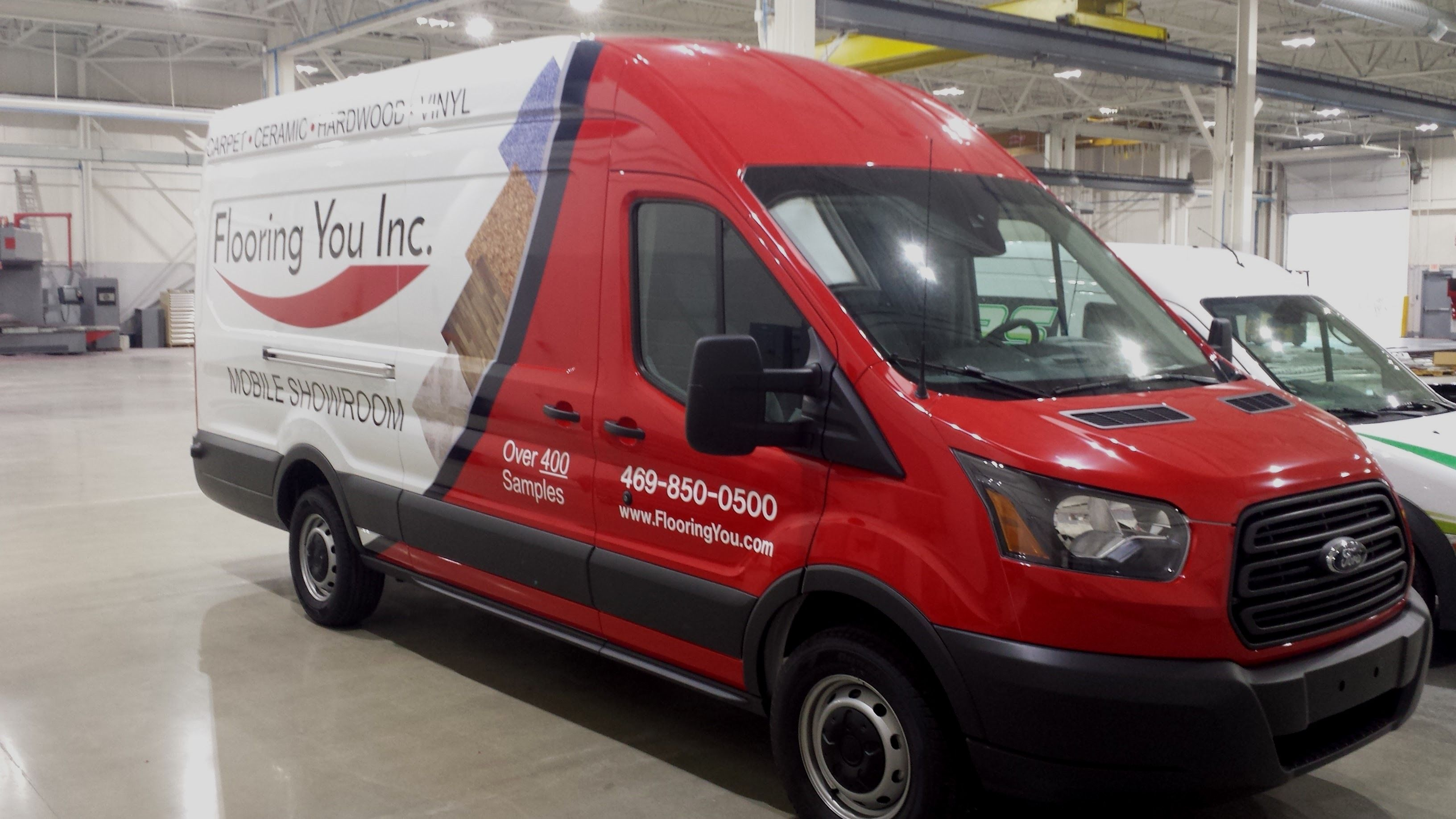 Flooring You Inc Partial Wrap Graphics Ford Transit Vehicle