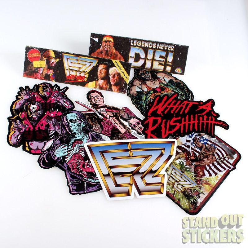 Electric Zombie Legends Never Die Barf Bag Sticker Pack Custom Vinyl Stickers Stickers Packs Custom Vinyl