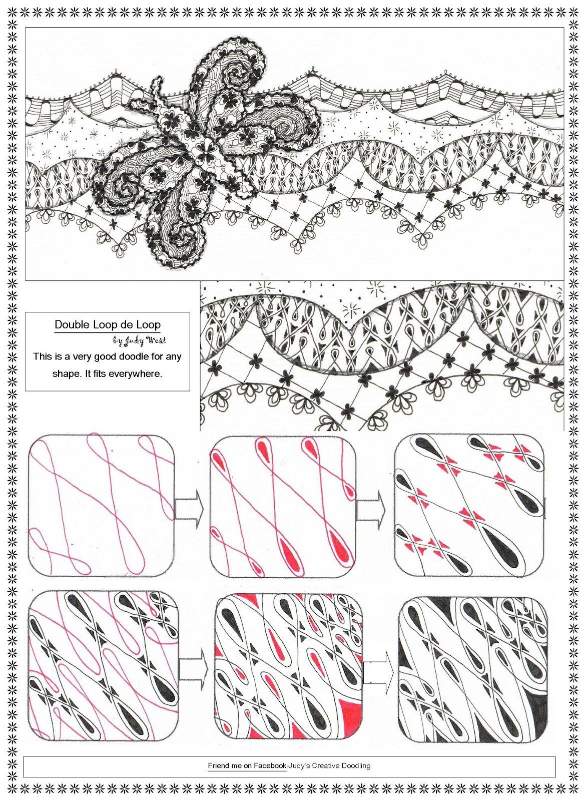 Creative Doodling with Judy West: Double Loop De Loop