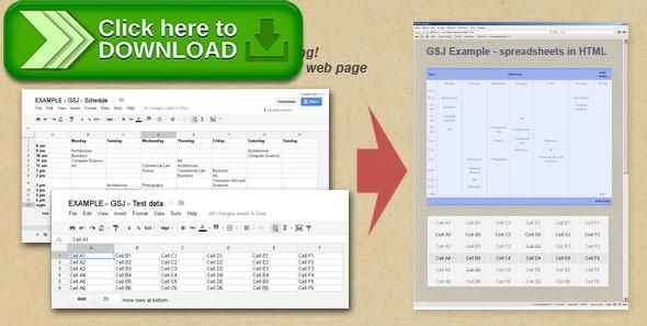 Free nulled jQuery plugin to show Google Spreadsheets data download - spreadsheet download