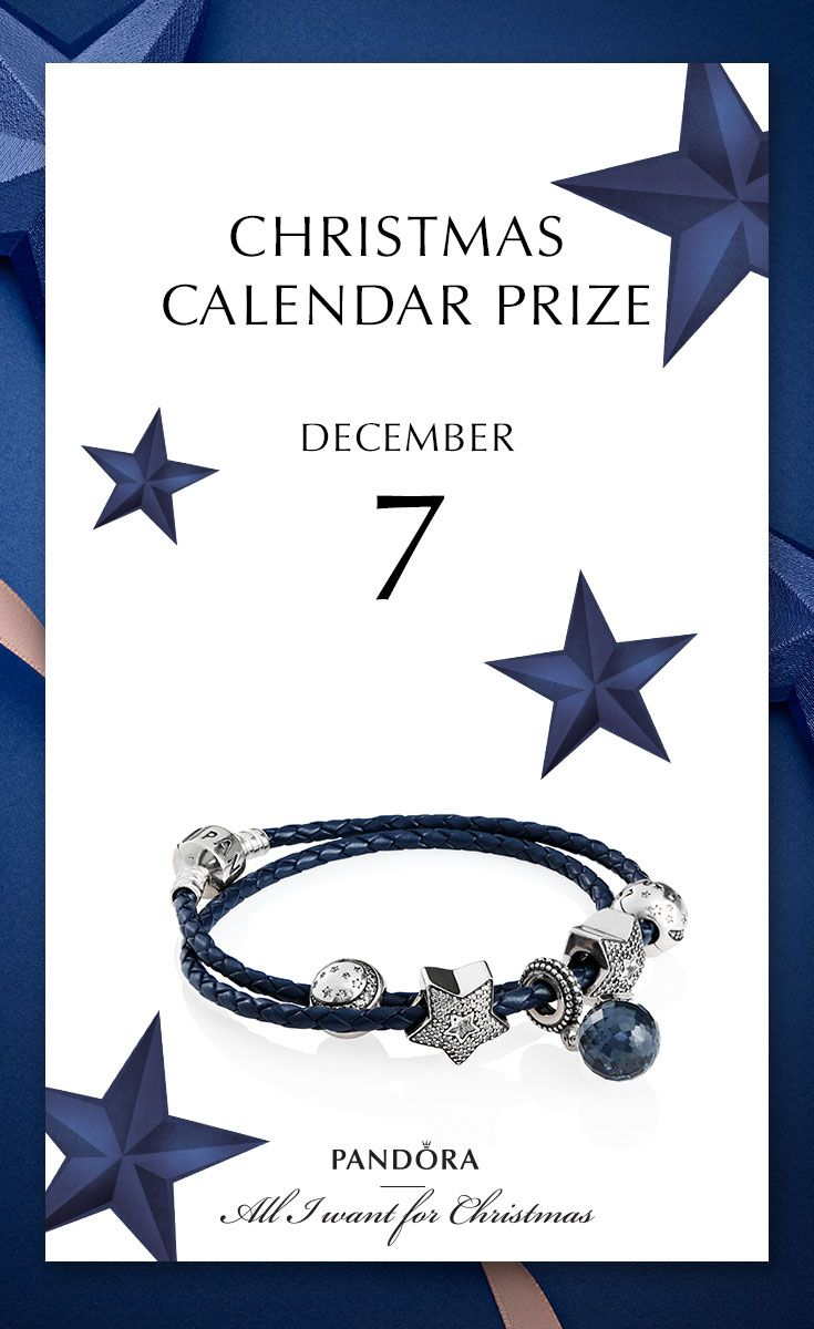 Stars and blue hues make us wish for Santa to stop by with this bracelet, but you can win it the 7th of December in #PANDORAchristmascontest #PANDORAgiftidea