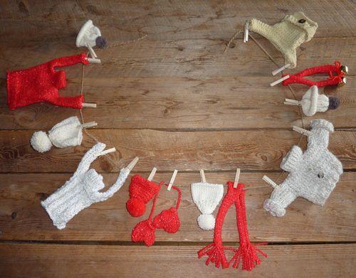 tricoter des mini pulls en laine pour Noel tricots de bonnets - creer sa cuisine en d gratuit